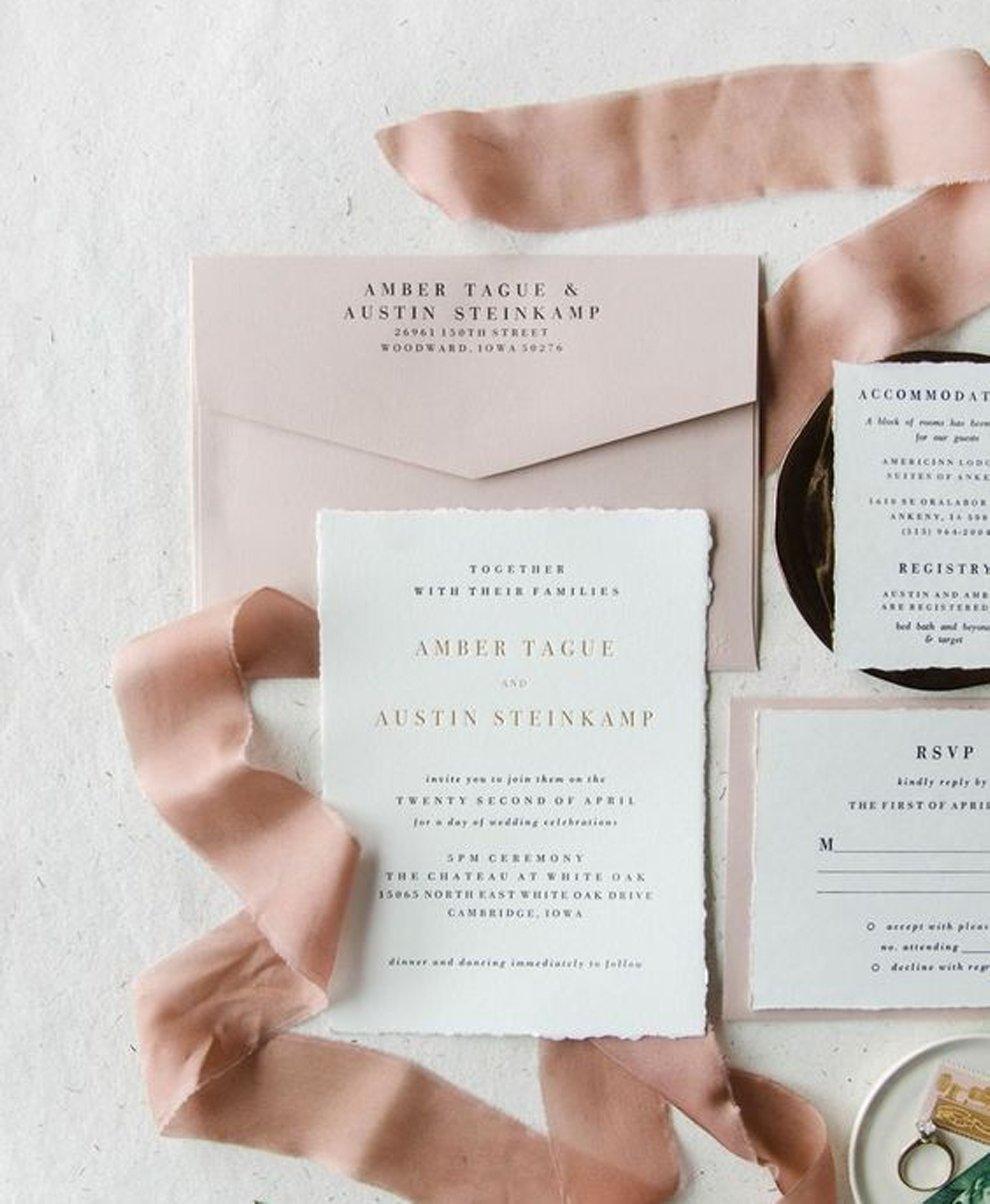 Elementos visuais para casamento: minimalista