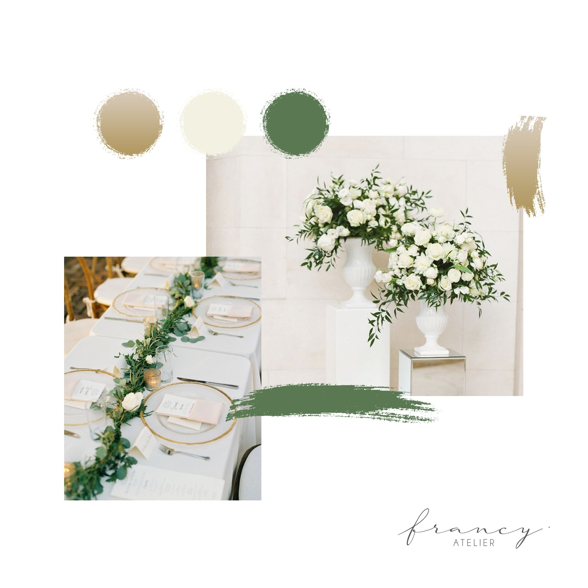 Paletas de cores: Branco + Verde
