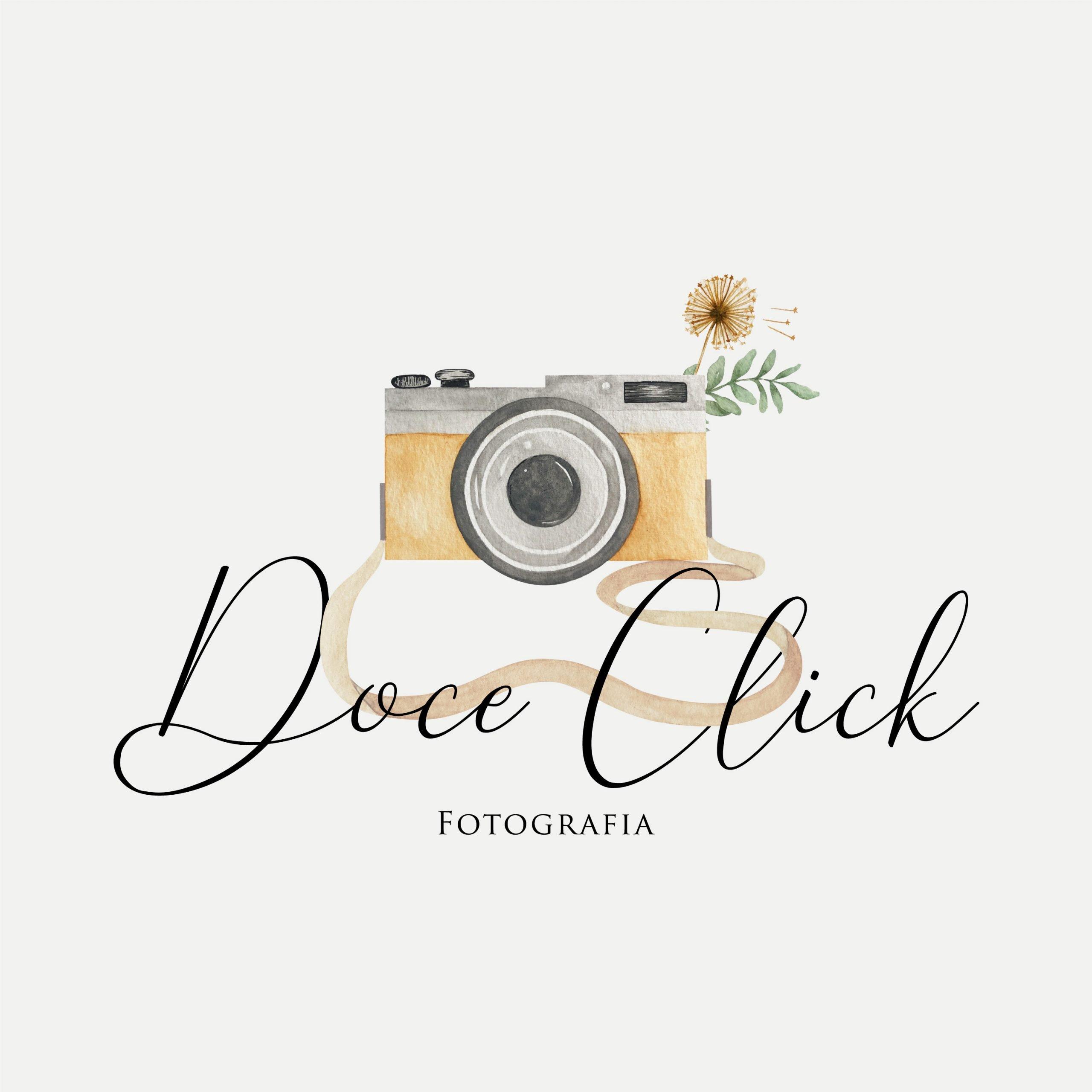 Logomarca em Aquarela - Doce Click
