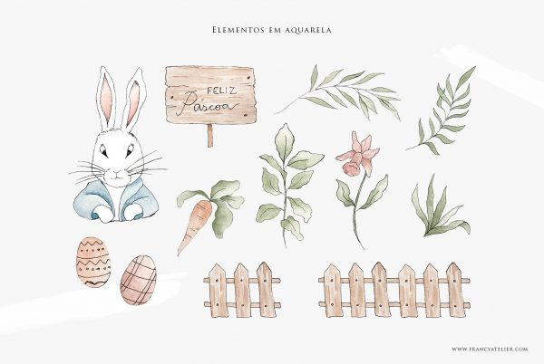 Aquarela Infantil - Elementos